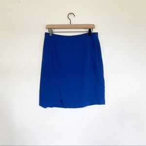 🌿 Forever 21 Royal Blue Faux Wrap Skirt